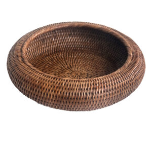 Round Natural Shaped Rattan Bowl