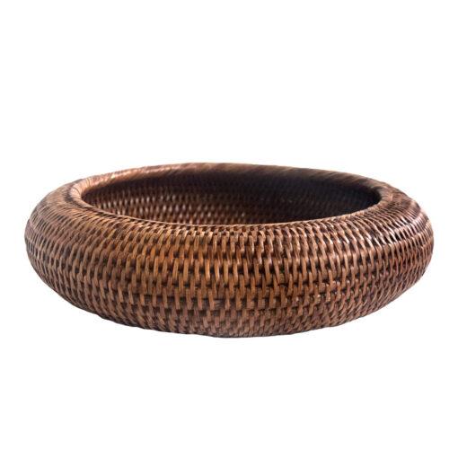 Round Natural Shaped Rattan Bowl