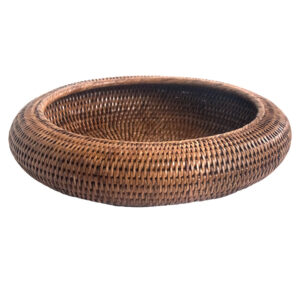 Round Shaped Bowl in Natural Rattan
