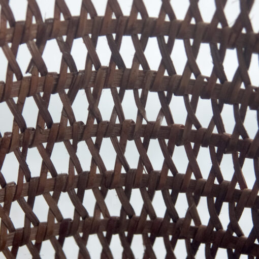 Grey Rattan Wastepaper Basket