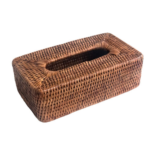 Natural Rattan Tissue Box Holder