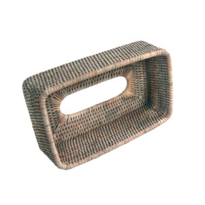 Base of Grey Rattan Tissue Box Cover