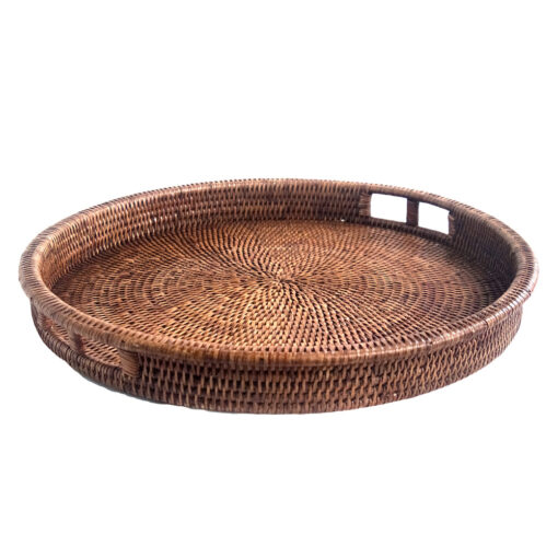 Round Natural Drinks Tray