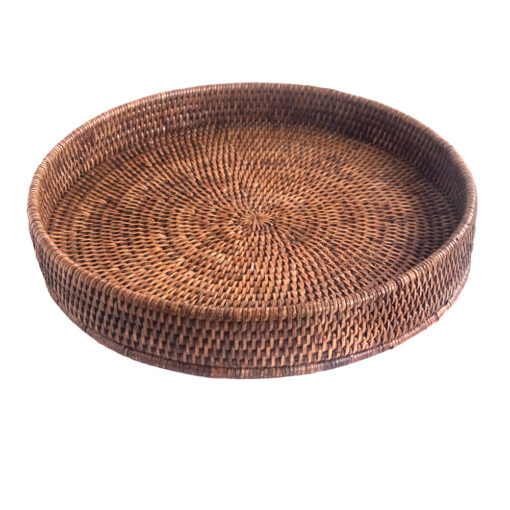 Round Natural Rattan Tray in 2 sizes