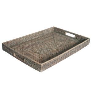Grey Ottoman Tray in 2 sizes