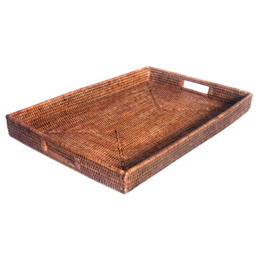 Natural Rattan Ottoman Tray in 2 sizes