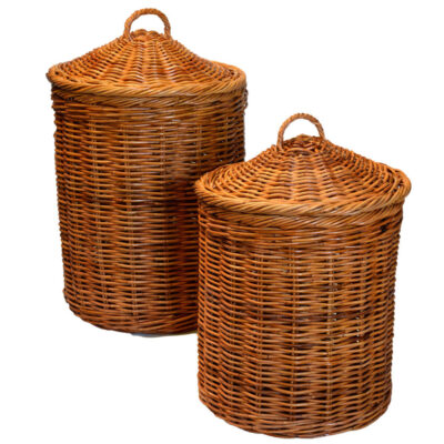 Rattan Laundry Basket with Conical Lid in 2 sizes