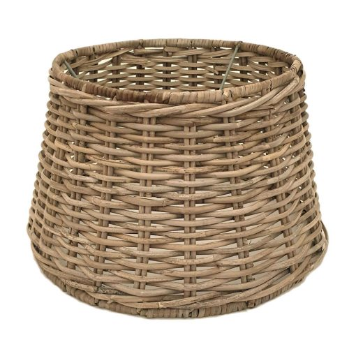 Small split-rattan table or floor lampshade