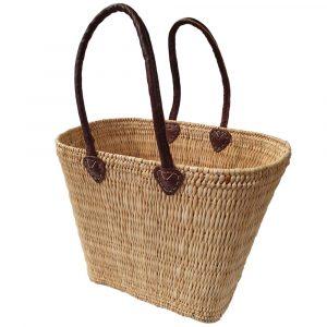 Shaped Oblong Bulrush French Market Basket